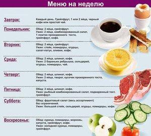 A diéta menüje egy hétig magas vérnyomással 2 fok