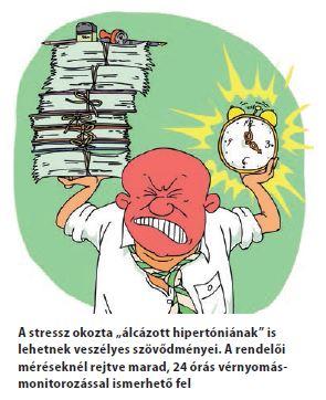 a nyomás a hipertóniával hirtelen csökken