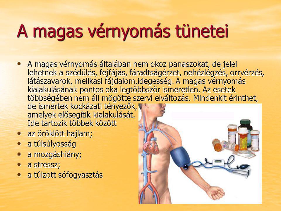 hipertónia tünete