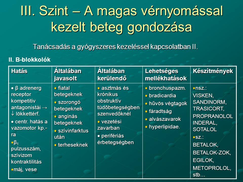 gyógyszerek magas vérnyomás ellen)