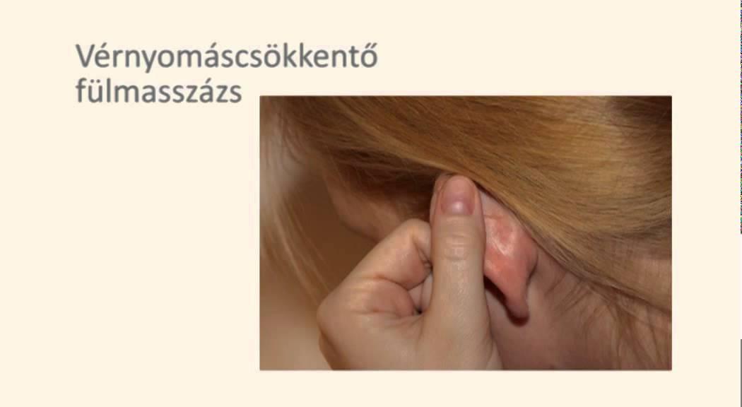 fülmasszázs magas vérnyomás esetén