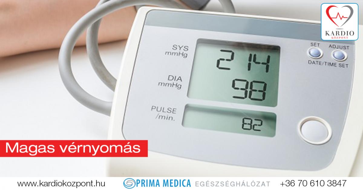 magas vérnyomás amelytől az alacsonyabb nyomás csökken)