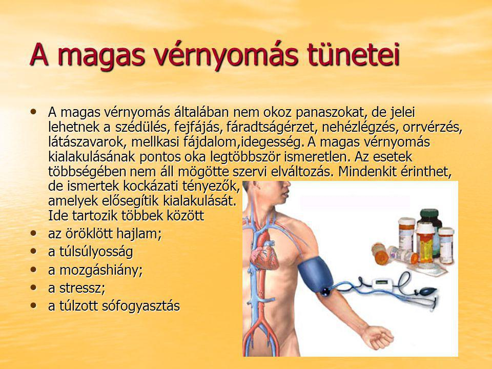 magas vérnyomás mértéke és kockázata