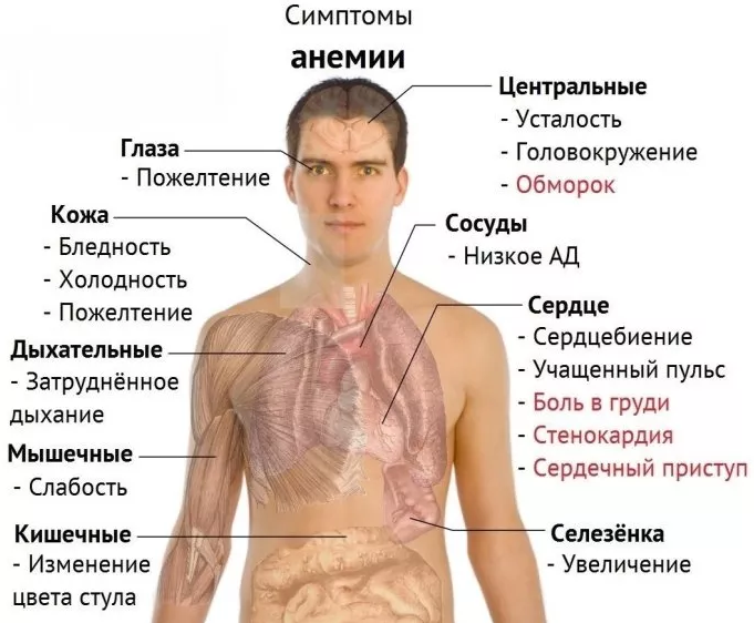 magas vérnyomás okozta vérszegénység