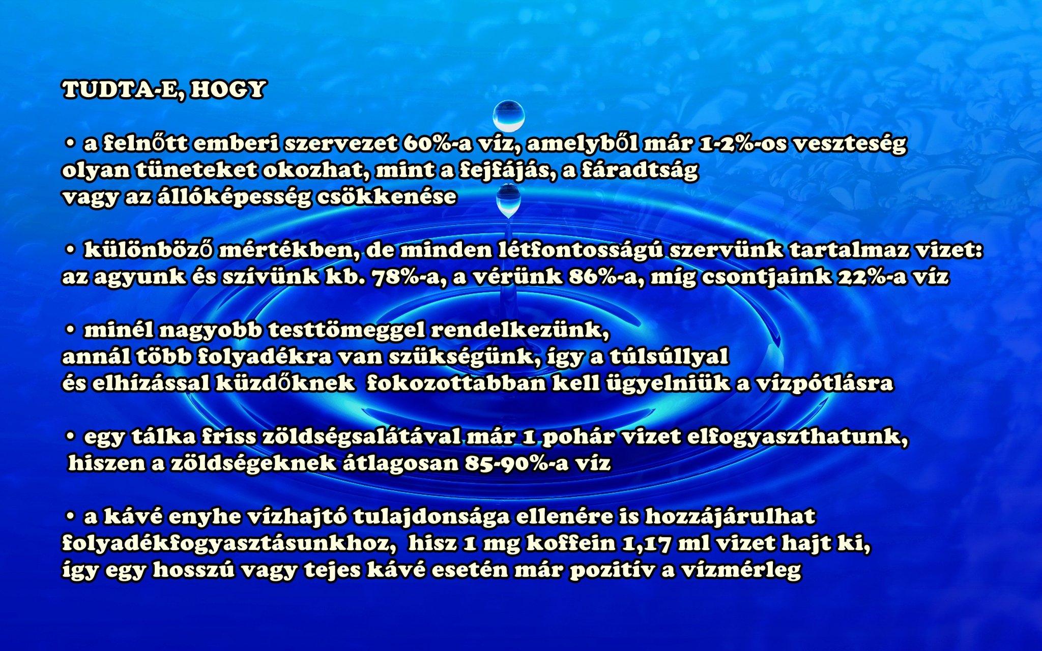 a magas vérnyomáshoz szükséges vízmennyiség kórtörténet hipertónia cukorbetegség