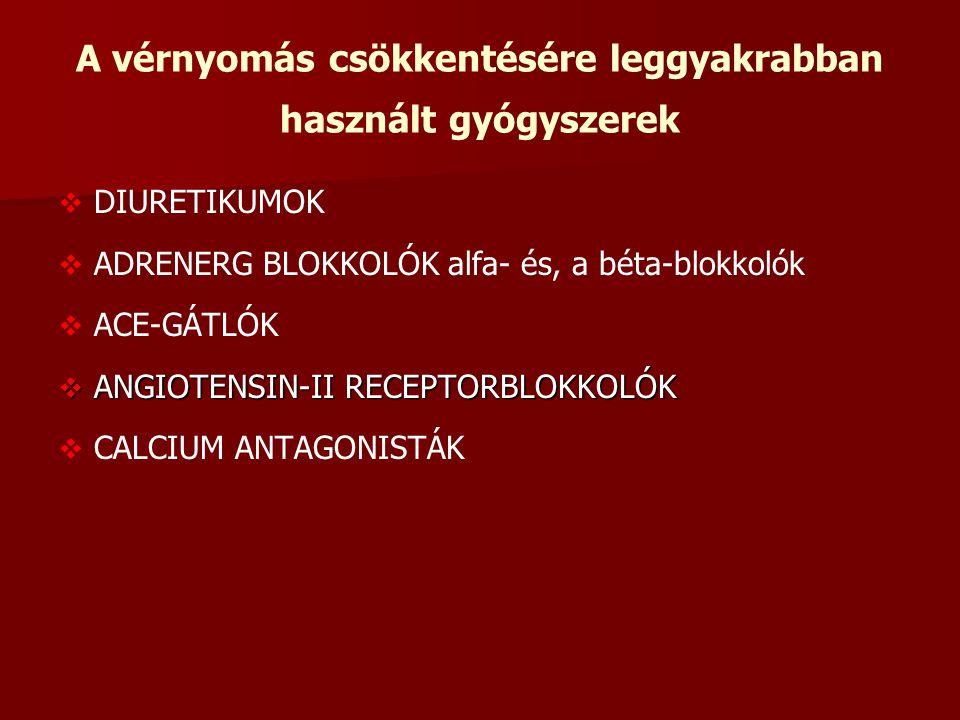 inhibitorok és blokkolók a magas vérnyomás kezelésében)